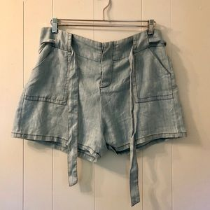 The Softest Anthropologie Chambray Shorts